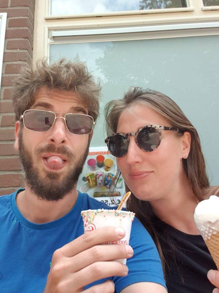 Bart en iris met ijs