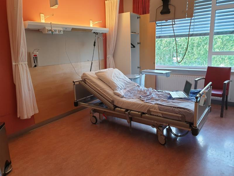 Mijn kamer in het ziekenhuis